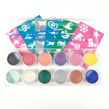 safe for skin Children face paint kit palette